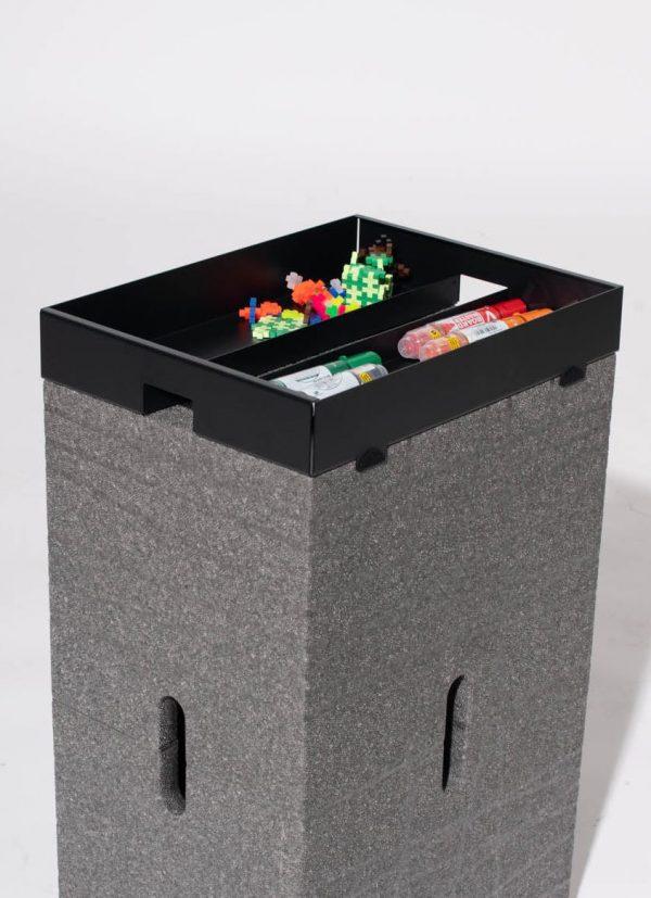 Die x-toolbox als agile Ablage und Aufsatz für den Xbrick
