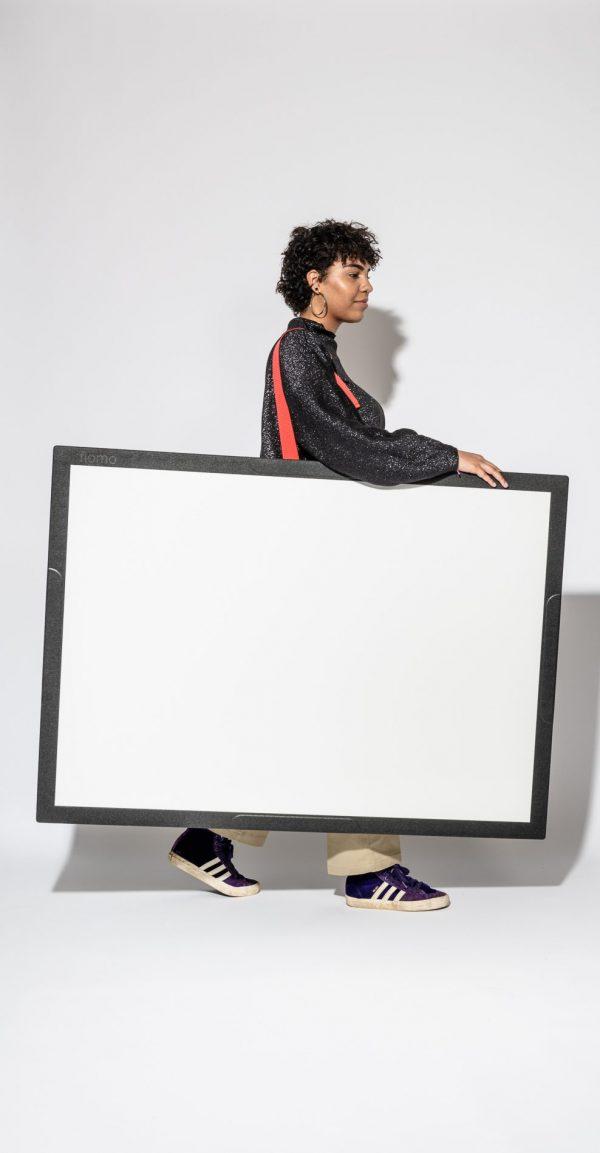 Das mobile Whiteboard - das Flomo Board von Xbrick