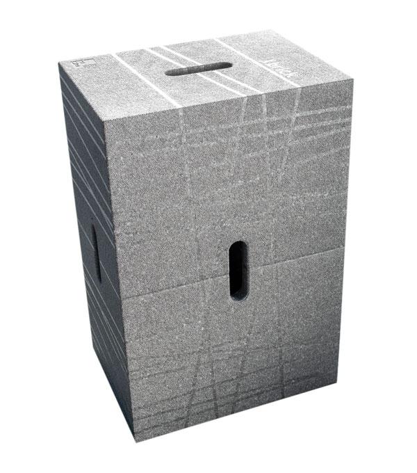 Der Xbrick Sitzhocker in der Farbe grau