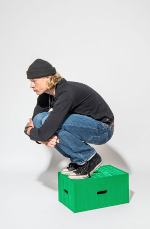Der Xbrick® Sitzhocker in grün