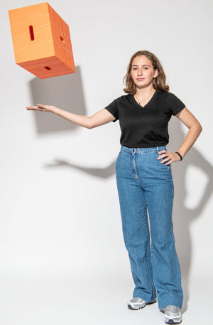 Xbrick® Sitzwürfel orange