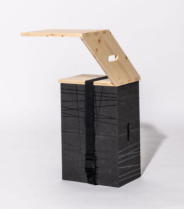 Xbrick Multifunktionsmöbel mit Zubehör X-tseat und x-belt - agiles Arbeiten von überall aus