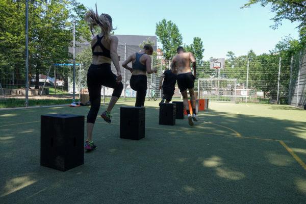 Trainingseinheiten mit dem Xbrick als Fitness-Tool