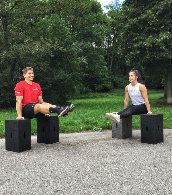 Partner-Workout mit dem Xbrick Starter-Set