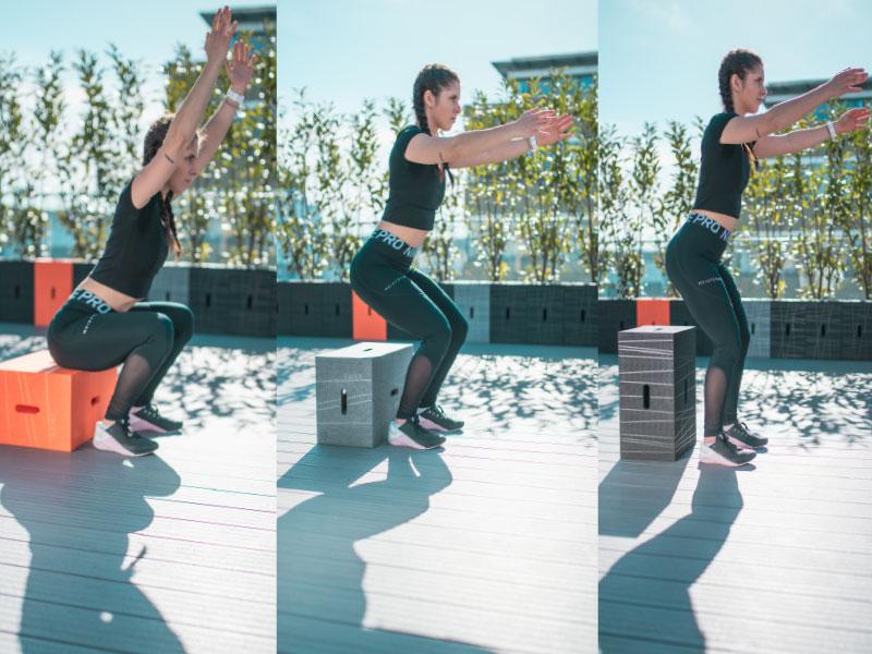 Der Xbrick unterstützt dich beim Squat und Workout nach der Arbeit