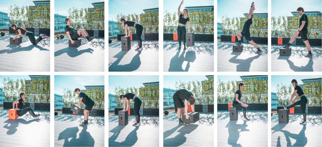 Anwendung des Xbrick für dein Workout und Fitnesstraining