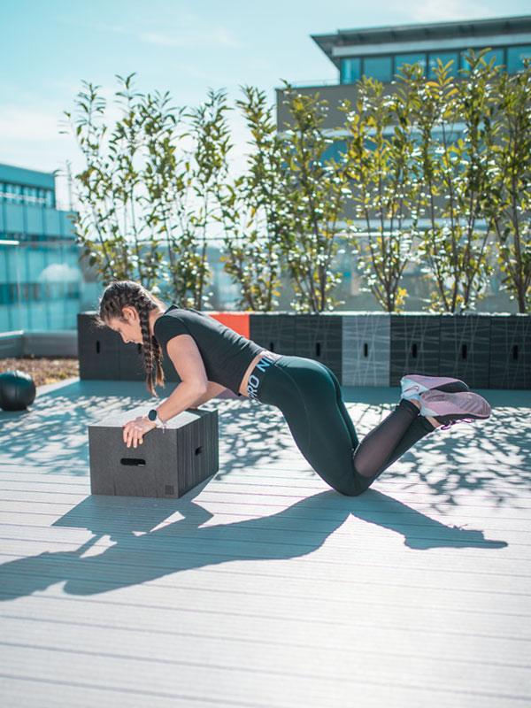 Workout mit dem Xbrick - Liegestütze